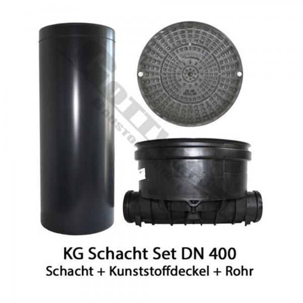 KG Schacht Set Dn 400 Gerade mit Kunststoffdeckel A 15