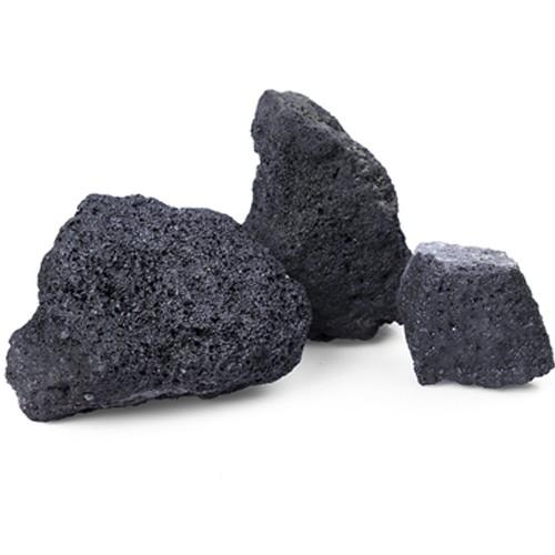 Lava schwarz 80 - 150 mm Steinmauer Gabione