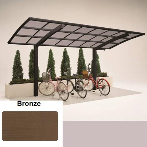 Alu Mini Carport 4,9 x 2,0 Meter bronze - Mini Portoforte 60 - Fahrradunterstand