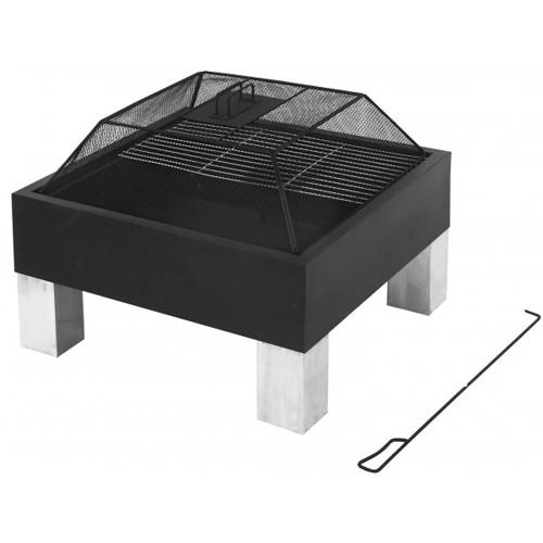 Feuerschale 61 cm - inkl Grillrost und Funkenschutz