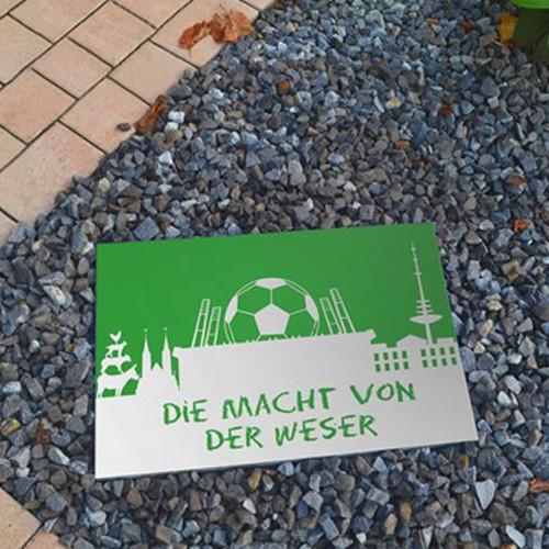 Terrassenplatte 60x40x4 cm Bremen Fußball