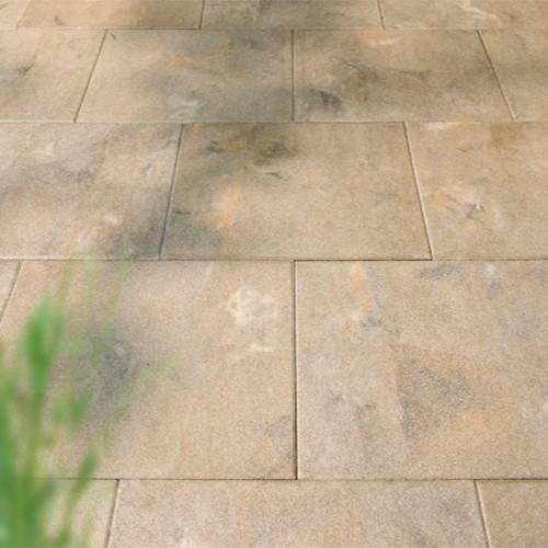 Terrassenplatte 40x40x4 cm feingestrahlt Rustica