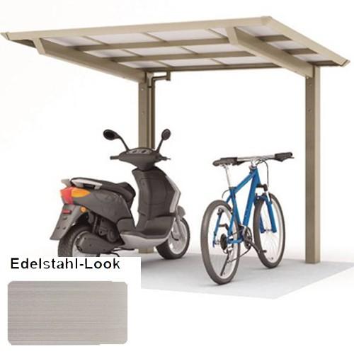 Alu Minicarport 2,5 x 2,0 Meter edelstahl - Smartport 60 - kleines Carport