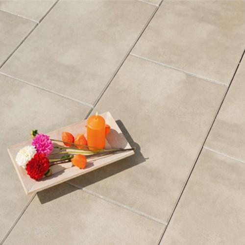 Terrassenplatte 60x40x4 cm perlmutt Marmor Optik