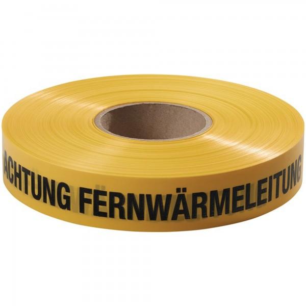 Trassenwarnband Aufdruck Achtung Fernwärmeleitung gelb