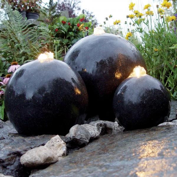 Wasserspiel London 3 Terrazzo Kugeln inkl LED
