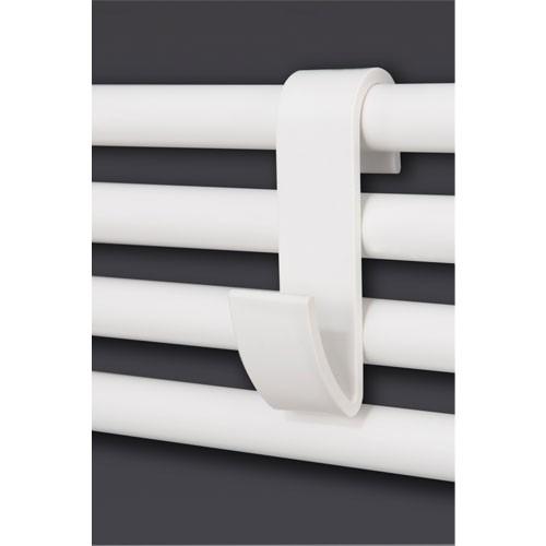 Handtuchhaken weiß oder chrom für Badheizkörper