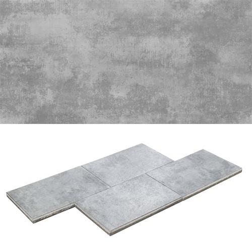 Terrassenplatte 60x40x4 cm Metallic-Effekt Latio® Metallico
