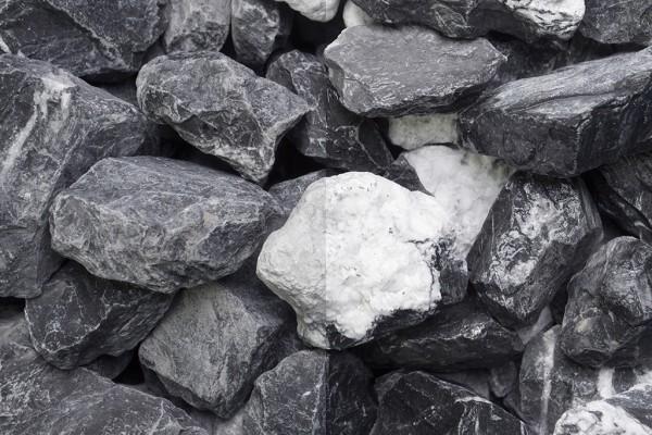 Bianco Vena 30-60 mm schwarz weiss Gabionenstein