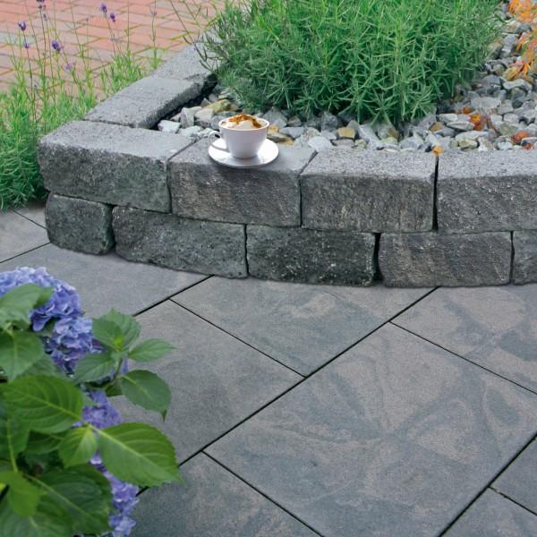Terrassenplatte Optima granit schwarz 40x40x4 cm