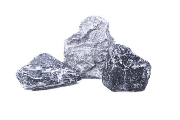Alpensteine 60 - 150 mm schwarz weiss grau