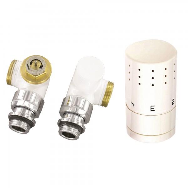 Ximax Thermostatset Winkelform Typ SX weiss