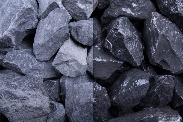 Alpenstein 32-56 mm Steinschlag Kalkstein schwarz weiss