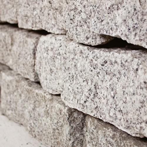 Granit Mauerstein 10x20x40 cm grau Steinmauer