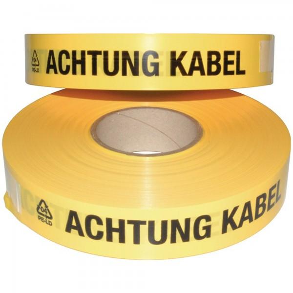 Trassenwarnband Aufdruck Achtung Kabel gelb