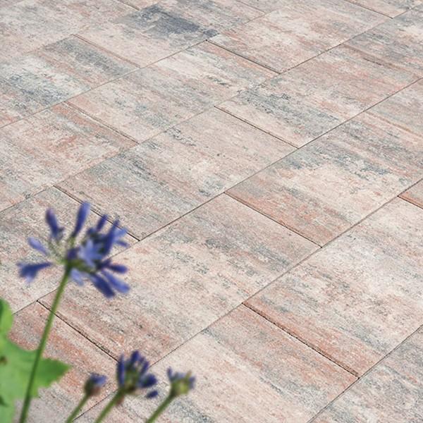 Terrassenplatte Via muschelbeige 60x30x4 cm Beispiel