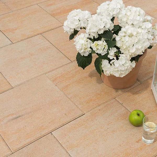 Terrassenplatte Via sandstein 40x40x4 cm Beispiel