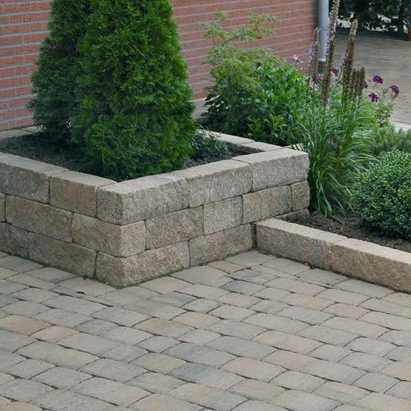 Siola® Pico Palisaden Mauersteine für Gartenmauer Muschelkalk Hochbeet