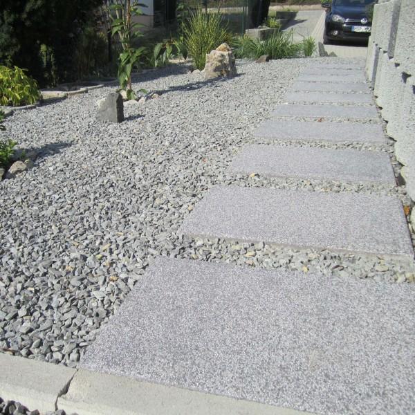 Terrassenplatte Rustica grau granit 60x40x4 cm