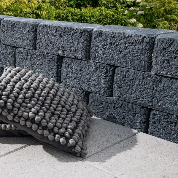 Mauerstein Riso Trapezmauerstein basalt Gartenmauer