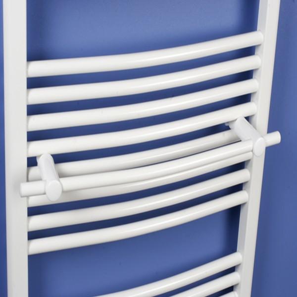 Handtuchstange gebogen - weiß - für Badheizkörper Ximax