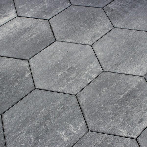 Terrassenplatte Diamano 46x40x4 cm graphit