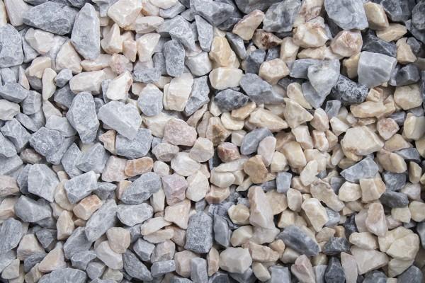 Kristall Florida Splitt 7 - 16 mm trockener und nasser Zustand