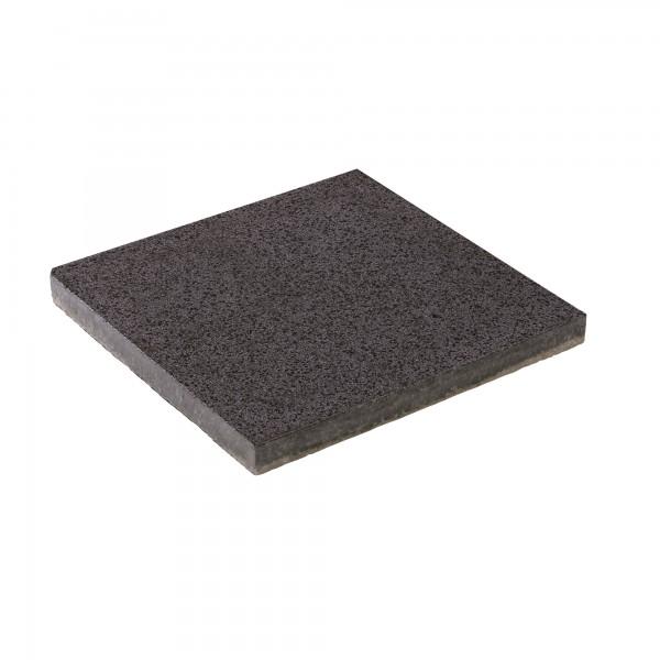 Terrassenplatte Rustica schwarz 40x40x4 cm