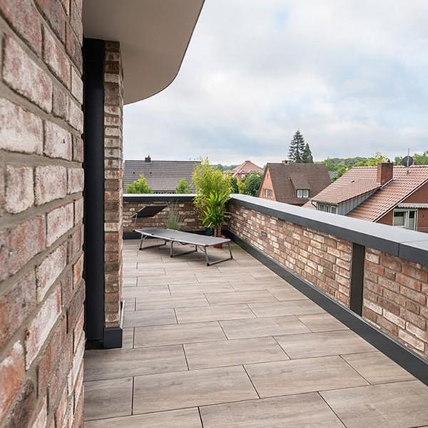Terrassenplatte Ceramia Trenta Umbra 120x30x3 cm