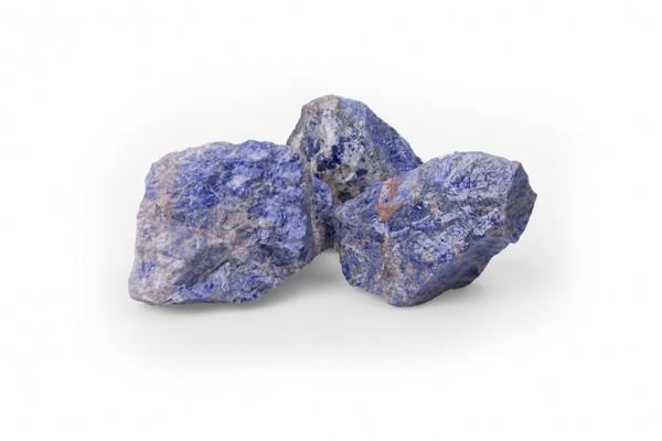 Sodalith 60 - 120 mm blau Steinmauer Gabione