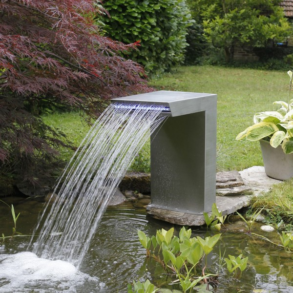 Designwasserfall 54x30x42cm mit LED Straight