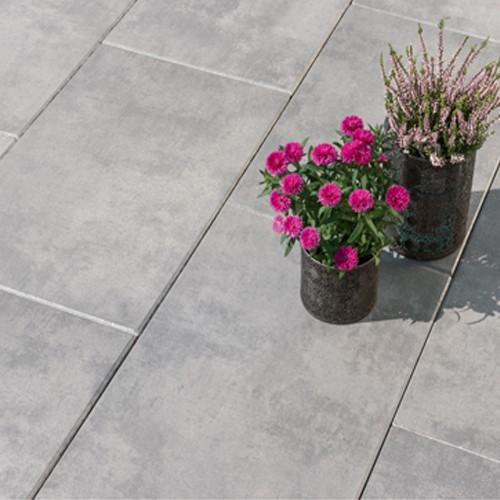 Terrassenplatte 60x40x4 cm Quarz Metall Effekt - Latio Metallico