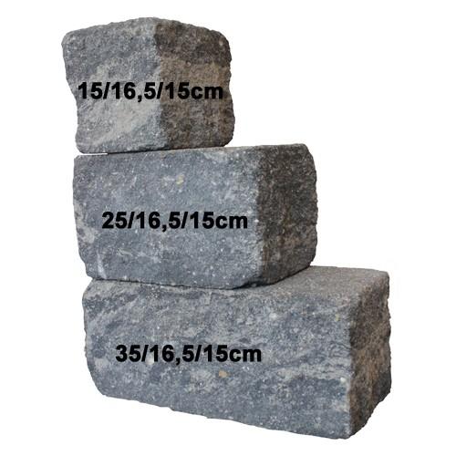 Trockenmauerstein Quarzit 25/16,5/15cm SIOLA®-MINI PE3