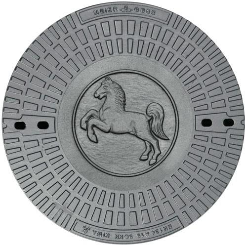 kanaldeckel motiv pferd pkwbefahrbar gussdeckel