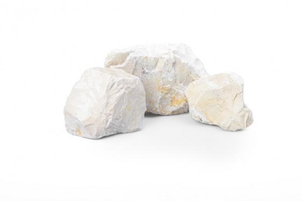 Jura 60-120 mm beige Kalkstein Steinmauer Gabione