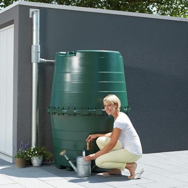 Regenwasserspeicher Top Tank dunkelgrün 1300 L