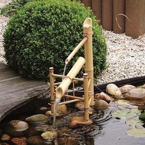 Wasserspiel Bamboo | Höhe ca. 66 cm | Bambus Wasserspiel Gartenteich