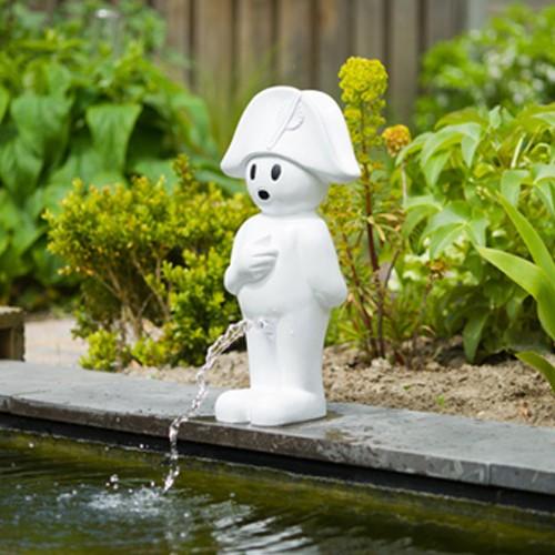 Wasserspiel Napoleon 47 cm weiß - Wasserspeier Gartenteich