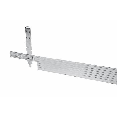 Beetbegrenzung Aluminium 2,44 Meter silbergrau Pflasterkante Rasenkante