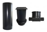 kg teleskopabdeckung set kg schacht dn 400 gerader durchlauf befahrbar 12 5t ebay. Black Bedroom Furniture Sets. Home Design Ideas