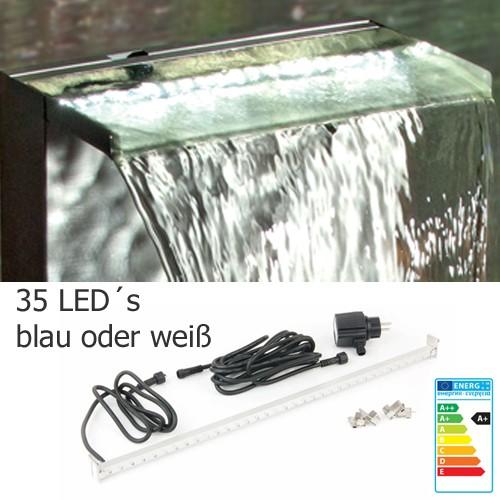 LED Leiste 60 cm weiß oder blau - Beleuchtung für Wasserfall