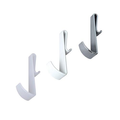 Handtuchhalter für Duschwände ohne Rahmen - weiß - chrom - transparent
