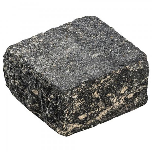 Mauerstein Siola Medio 21x21x12,5 cm schwarz weiss