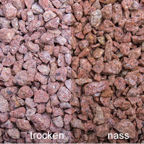 Rosa Edelporphyr Splitt 8 - 12 mm rosa rot Porphyr