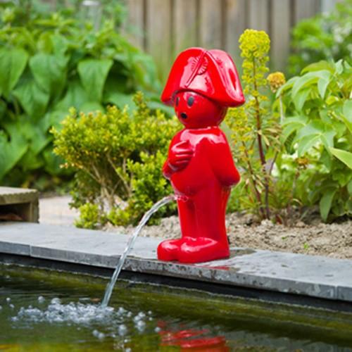 Wasserspiel Napoleon 66 cm rot - Wasserspeier Gartenteich