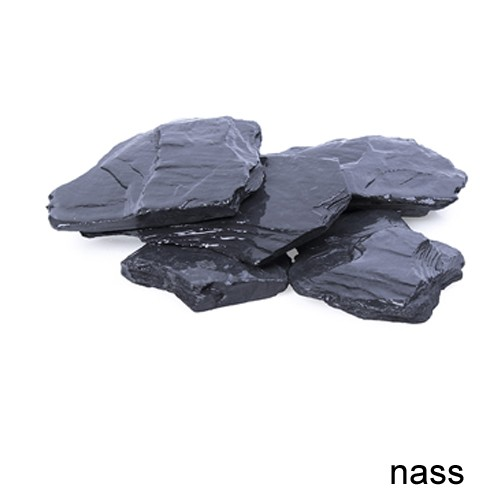 Canadian Slate Splitt 80-200 mm schwarz Schiefer