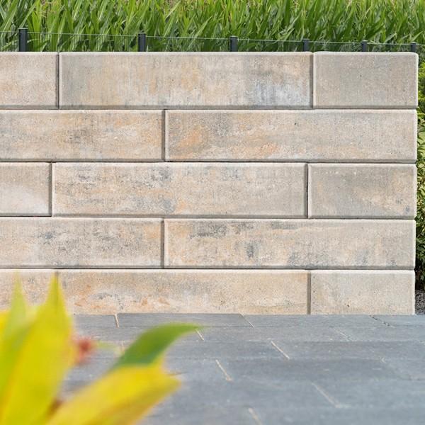 Mauerstein für Gartenmauer Lisco Medio 42x21x12,5 cm muschelkalk