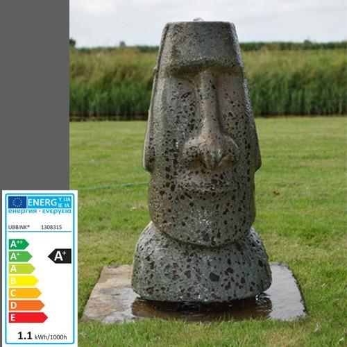Wasserspiel Moai | 33x30x70cm | LED | Osterinsel-Statur