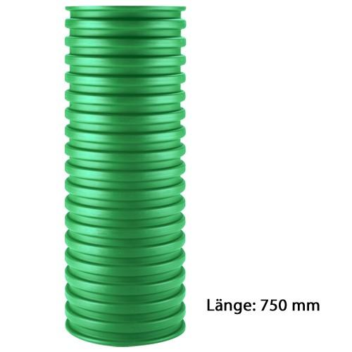 Schachtrohr DN 315 L: 0,75 Meter grün PP