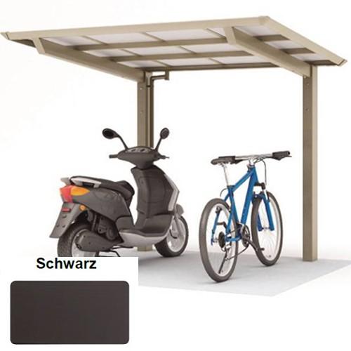 Alu Minicarport 2,5 x 2,0 Meter schwarz - Smartport 60 - kleines Carport